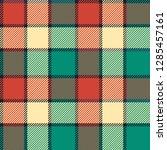 seamless tartan vector pattern | Shutterstock .eps vector #1285457161