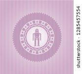 robot icon inside retro pink...   Shutterstock .eps vector #1285457554