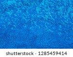 blue fleece surface macro image | Shutterstock . vector #1285459414
