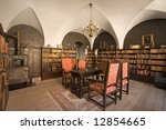 Library In Old Castle  Denmark