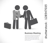 business metaphors   handshake  ... | Shutterstock .eps vector #128547035