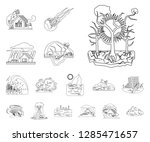 isolated object of natural and... | Shutterstock .eps vector #1285471657