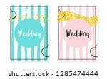 bridal shower card with dots... | Shutterstock .eps vector #1285474444