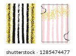 bridal shower card with dots... | Shutterstock .eps vector #1285474477