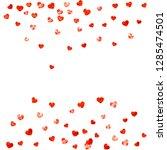 heart border for valentines day ... | Shutterstock .eps vector #1285474501