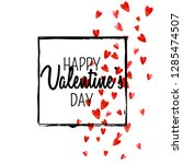 valentines day card with red... | Shutterstock .eps vector #1285474507
