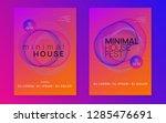 music flyer. dynamic gradient... | Shutterstock .eps vector #1285476691