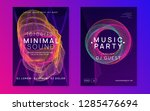 electronic event. wavy... | Shutterstock .eps vector #1285476694