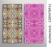 vertical seamless patterns set  ... | Shutterstock .eps vector #1285478911