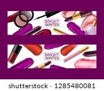 lipstick pattern vector... | Shutterstock .eps vector #1285480081