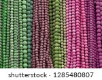 colorful beads background.... | Shutterstock . vector #1285480807