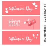 valentines day sale 14 february ... | Shutterstock .eps vector #1285502464