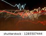 beautiful abstract futuristic... | Shutterstock . vector #1285507444