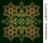 vector seamless damask pattern  ... | Shutterstock .eps vector #1285510771