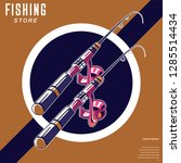 gone fishing advertising poster | Shutterstock .eps vector #1285514434