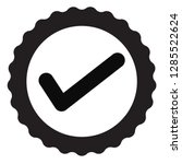 approved certificate icon on...