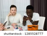 international students studing... | Shutterstock . vector #1285528777