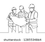 one line drawing of young... | Shutterstock .eps vector #1285534864