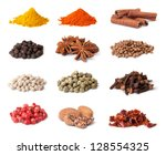 spice collection isolated on... | Shutterstock . vector #128554325
