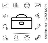 tool box icon. simple thin line ...