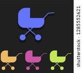 pram icon in multi color....
