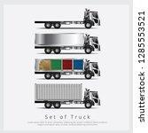 set of cargo trucks... | Shutterstock .eps vector #1285553521