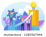 business growth graph  teamwork ... | Shutterstock .eps vector #1285567444