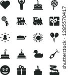 solid black vector icon set  ...   Shutterstock .eps vector #1285570417