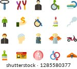 color flat icon set   holy... | Shutterstock .eps vector #1285580377