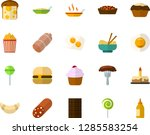color flat icon set   cake flat ... | Shutterstock .eps vector #1285583254