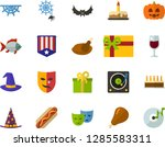 color flat icon set  ... | Shutterstock .eps vector #1285583311