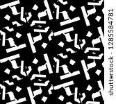 halftone monochrome texture... | Shutterstock .eps vector #1285584781