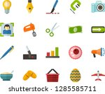 color flat icon set   easter... | Shutterstock .eps vector #1285585711