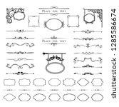 calligraphic design elements.... | Shutterstock .eps vector #1285586674