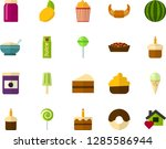 color flat icon set   easter... | Shutterstock .eps vector #1285586944