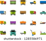 color flat icon set   trolley... | Shutterstock .eps vector #1285586971