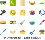 color flat icon set   cheese... | Shutterstock .eps vector #1285588207