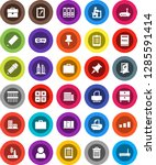 white solid icon set  trash bin ... | Shutterstock .eps vector #1285591414