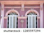neoclassical architecture with... | Shutterstock . vector #1285597294