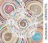 hand drawn spiral pattern... | Shutterstock .eps vector #1285602751