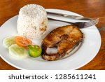 filipino food   steak tuna with ... | Shutterstock . vector #1285611241
