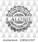 calorie grey emblem with... | Shutterstock .eps vector #1285611547