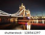 Shot Of Tower Bridge At Night
