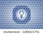 Women Cycle Icon Inside Blue...