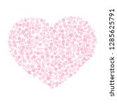 cute pink frame for valentine... | Shutterstock .eps vector #1285625791
