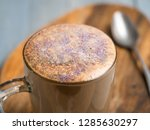 trendy coffee with edible... | Shutterstock . vector #1285630297
