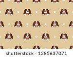 cartoon character cute brown... | Shutterstock .eps vector #1285637071