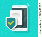 phone document protection... | Shutterstock . vector #1285642627