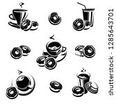 donut set. donuts collection...   Shutterstock .eps vector #1285643701