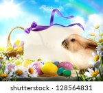 Easter Card With Easter Bunny...